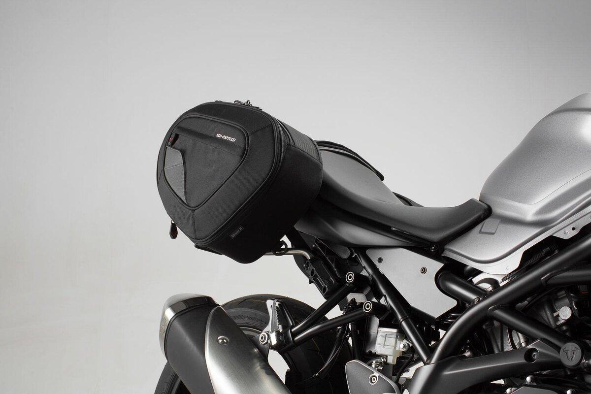 BLAZE H saddlebag set Black/Grey. Suzuki SV650 ABS (15-).
