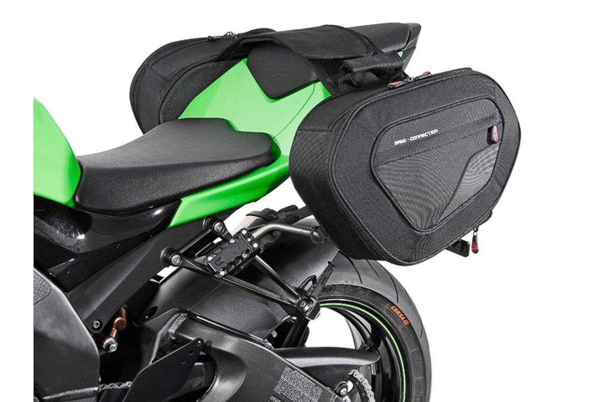 BLAZE Satteltaschen Set Schwarz Grau Kawasaki Ninja ZX 10R 07