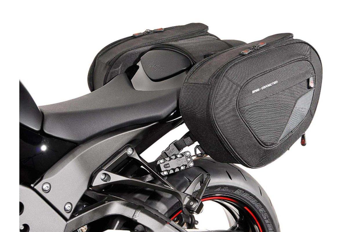 BLAZE H Satteltaschen Set Schwarz Grau Kawasaki Ninja ZX 10R 10