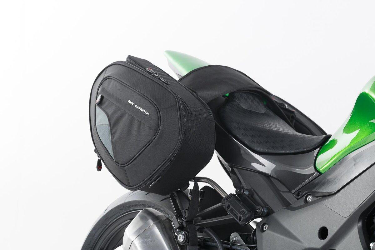 BLAZE H Satteltaschen Set Schwarz Grau Kawasaki Z1000 14