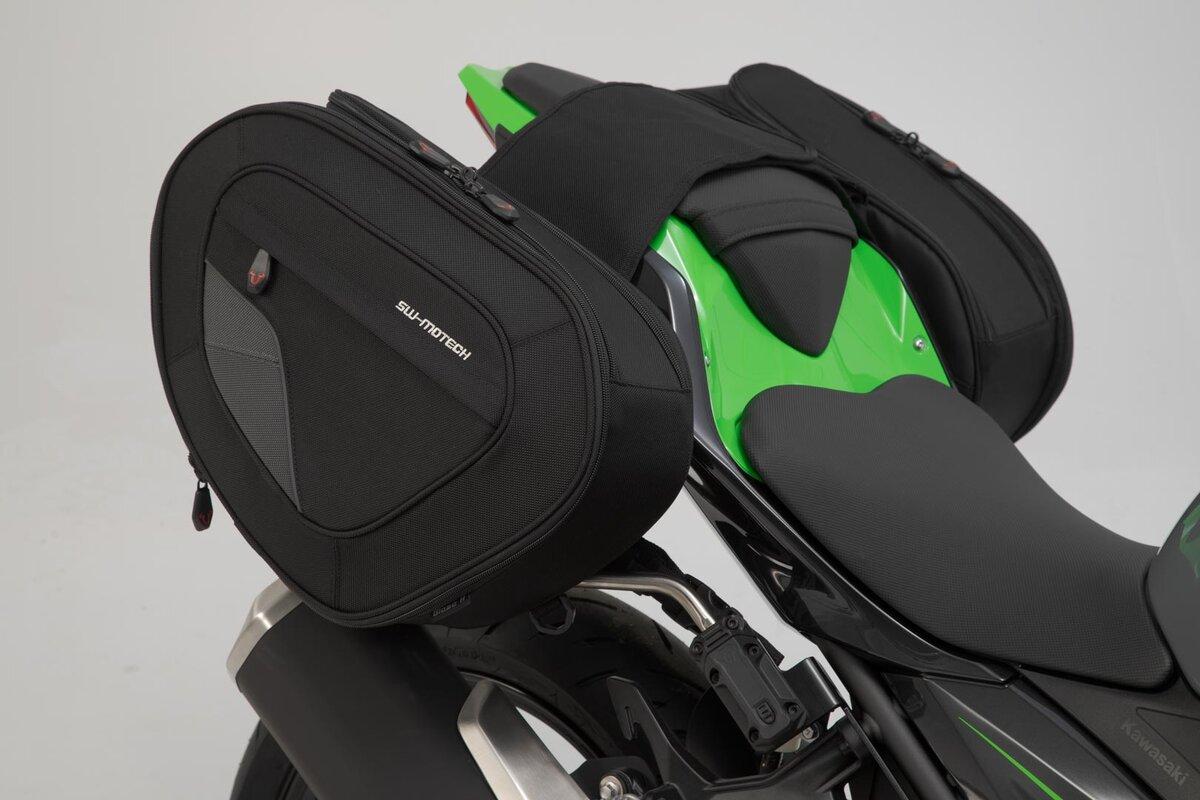 BLAZE H saddlebag set  Black/Grey  Kawasaki Ninja/ Z 400 (18-)
