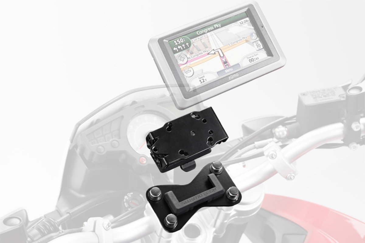 Gps Geräte Für Auto : Abnehmbarer motorrad geräte halter für navis gps geräte quick