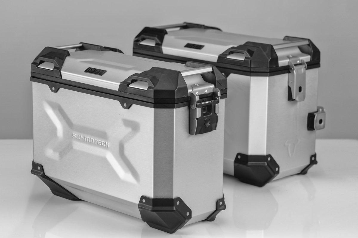 777245579 Sistema de maletas TRAX ADV Plateado. 45/37 l. Honda XL650 V (
