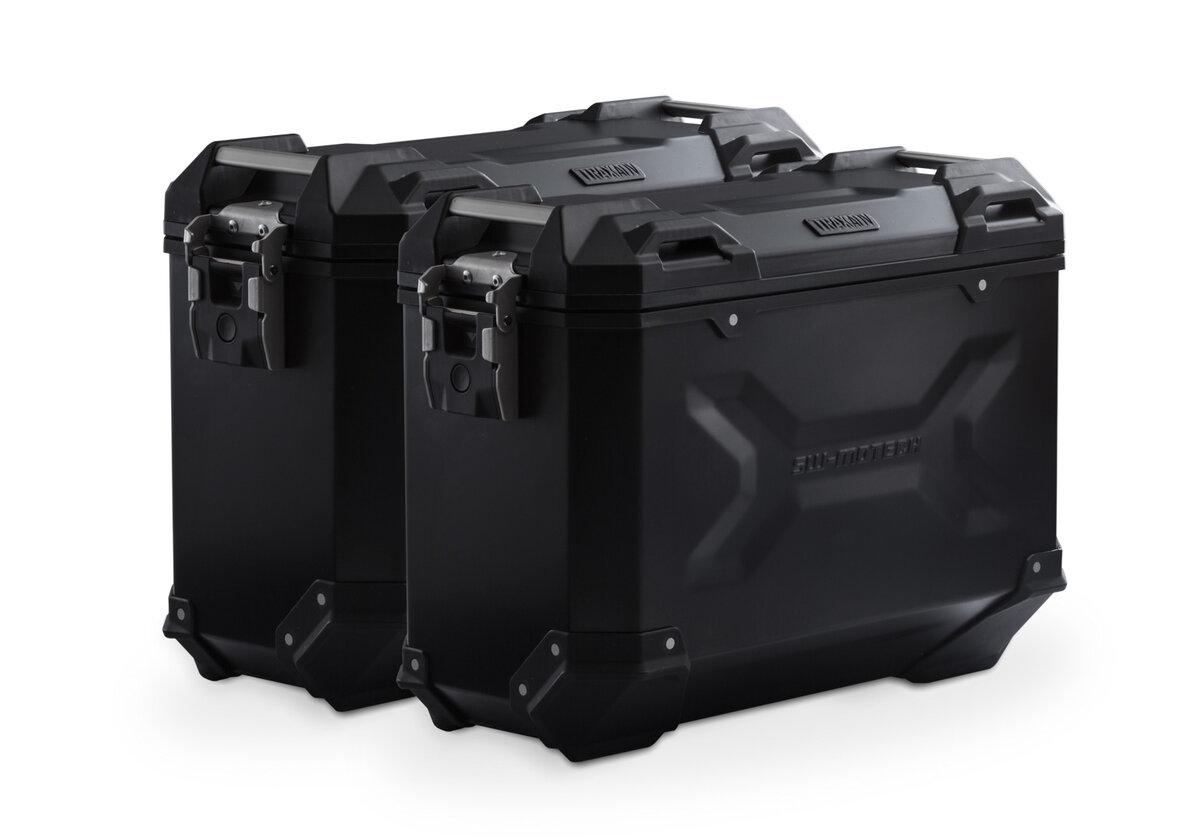 Rewelacyjny TRAX ADV Alukoffer-System 37/37 Schwarz, Yamaha Tracer 700 - SW-MOTECH TI87
