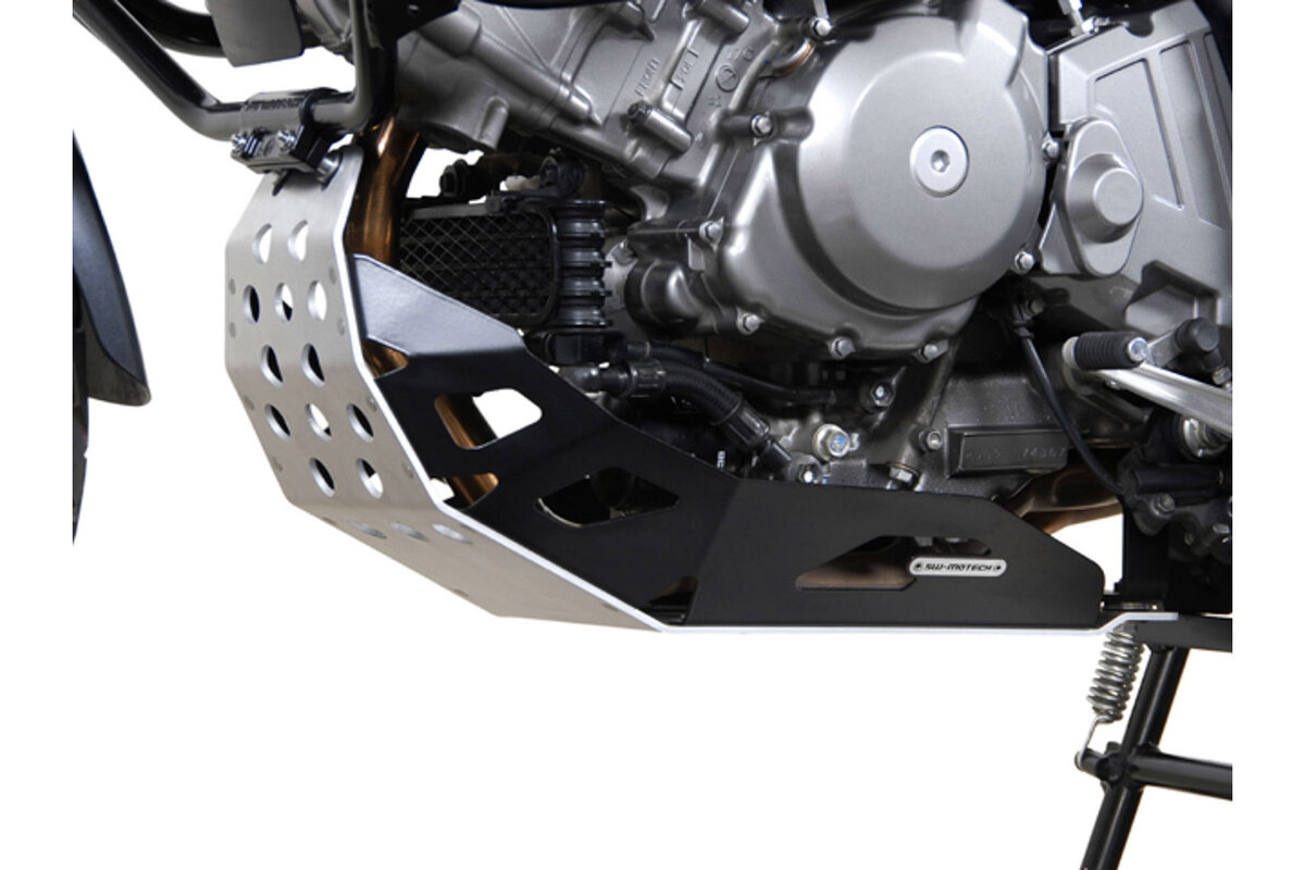 SW-MOTECH Aluminum Engine Guard Skidplate for Suzuki DL1000 V-Strom 02-13 Black