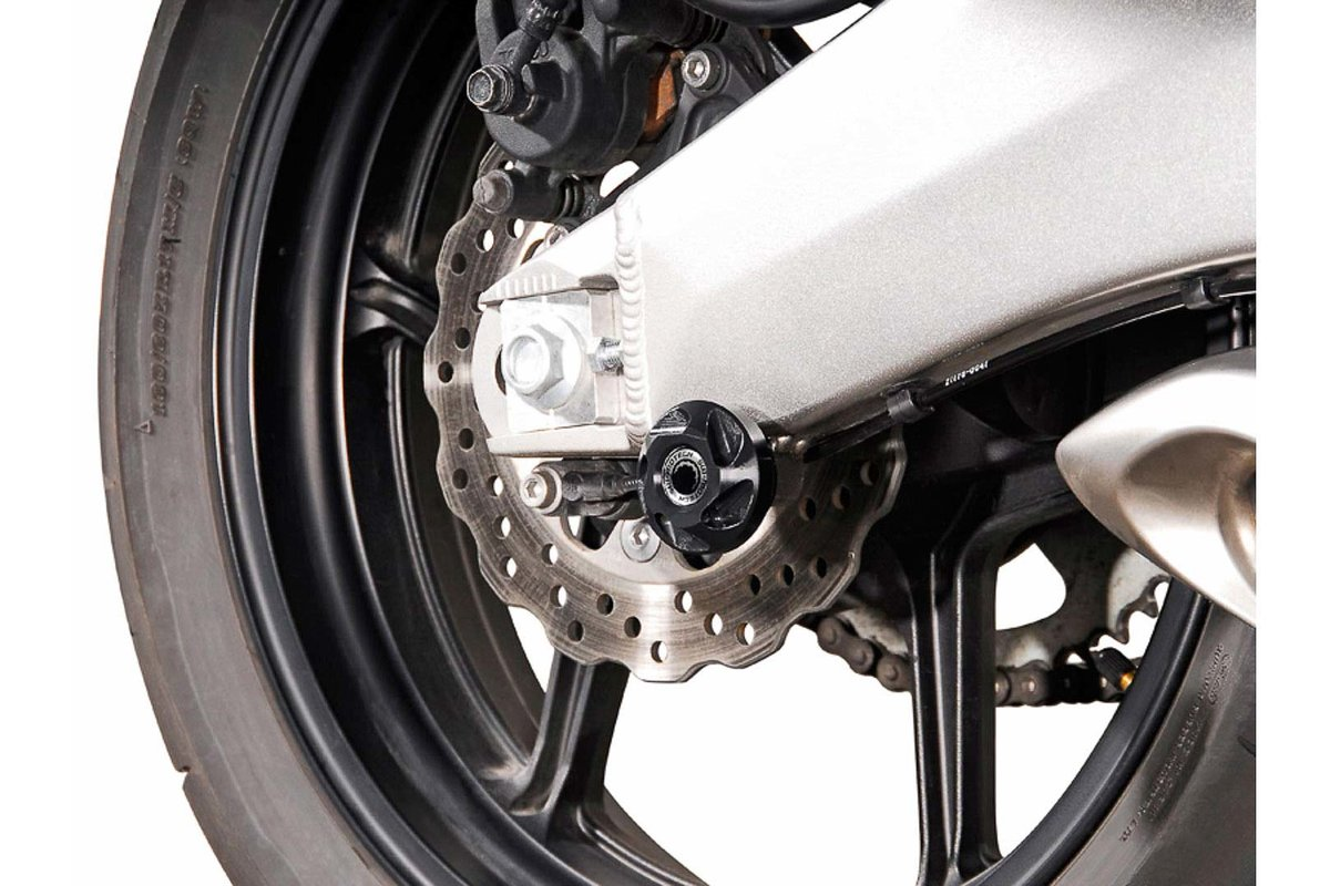 Sturzpad für die Schwinge, für Kawasaki Versys 650, von SW-MOTECH.