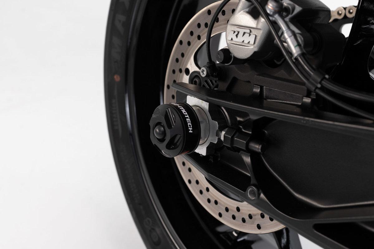 Frame Slider For The Axles Ktm 790 Duke By Sw Motech All New Cbr 150 R Set Rear Axle Black 18