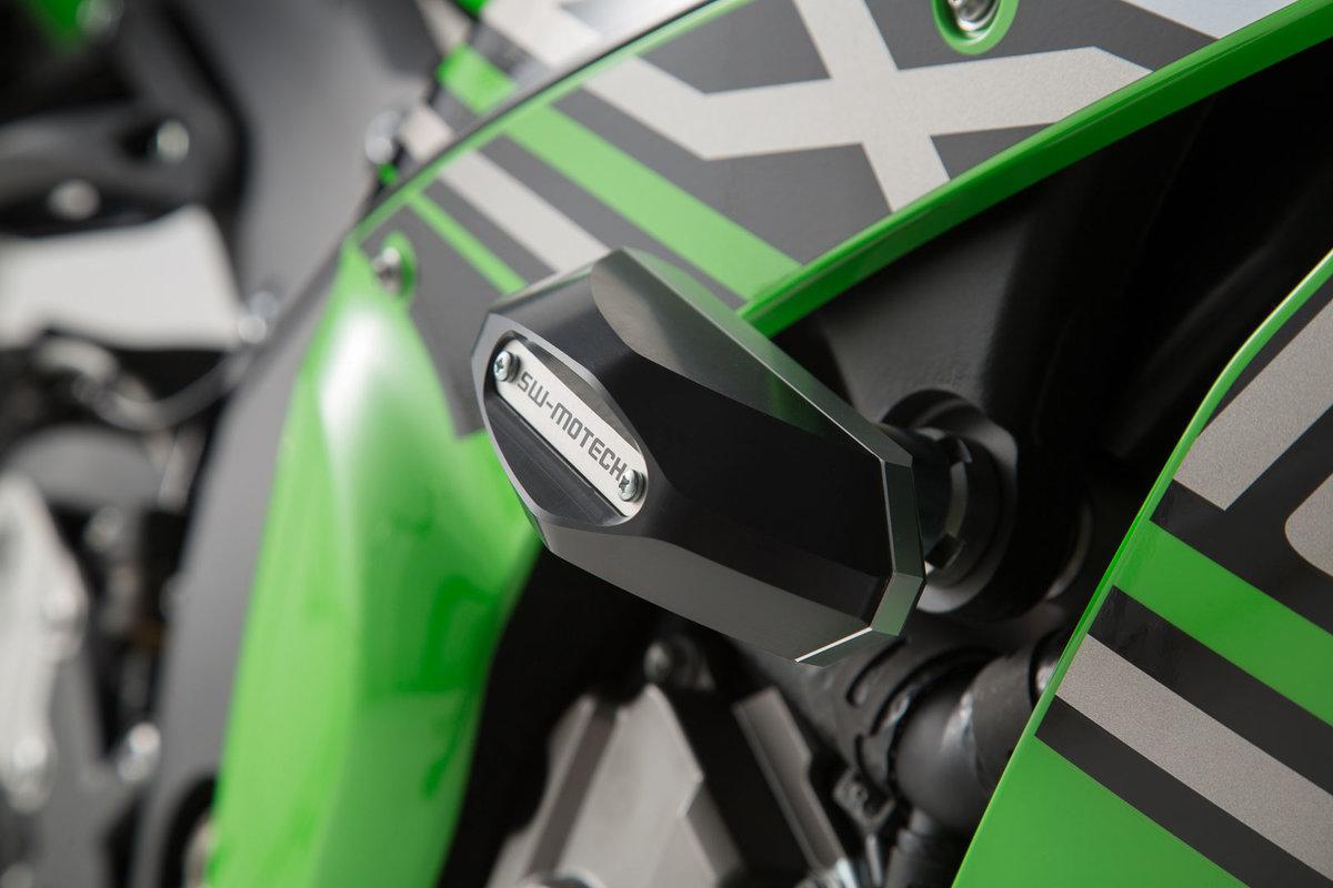 Sturzpad Kit Schwarz Kawasaki Ninja ZX 10R 10