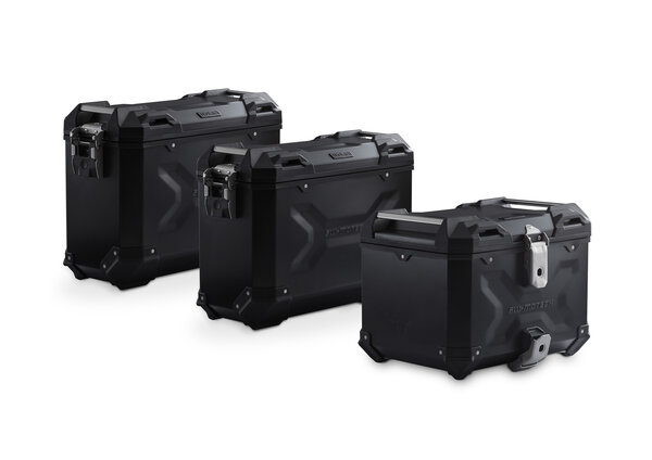 Set de equipaje Adventure Negro. BMW F 750/850 GS. Rack acero inoxidable.