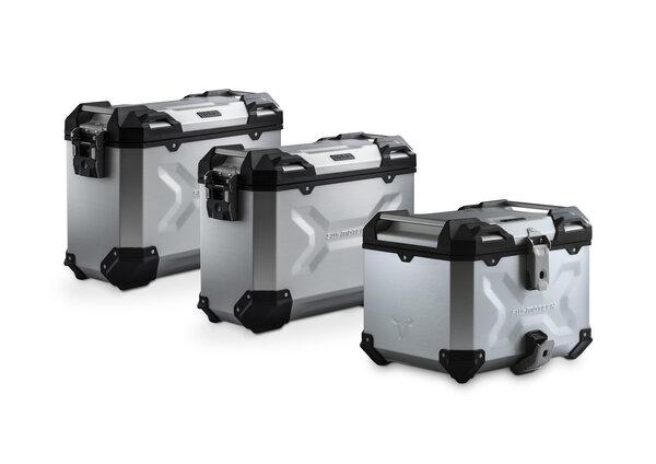 Set de equipaje Adventure Plata. BMW F 750/850 GS. Rack material sintético.