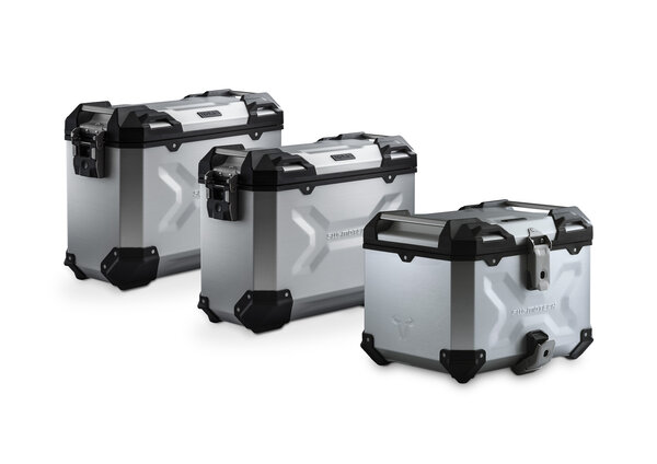 Adventure set Luggage Silver. BMW F 750/850 GS. Stainless steel rack.