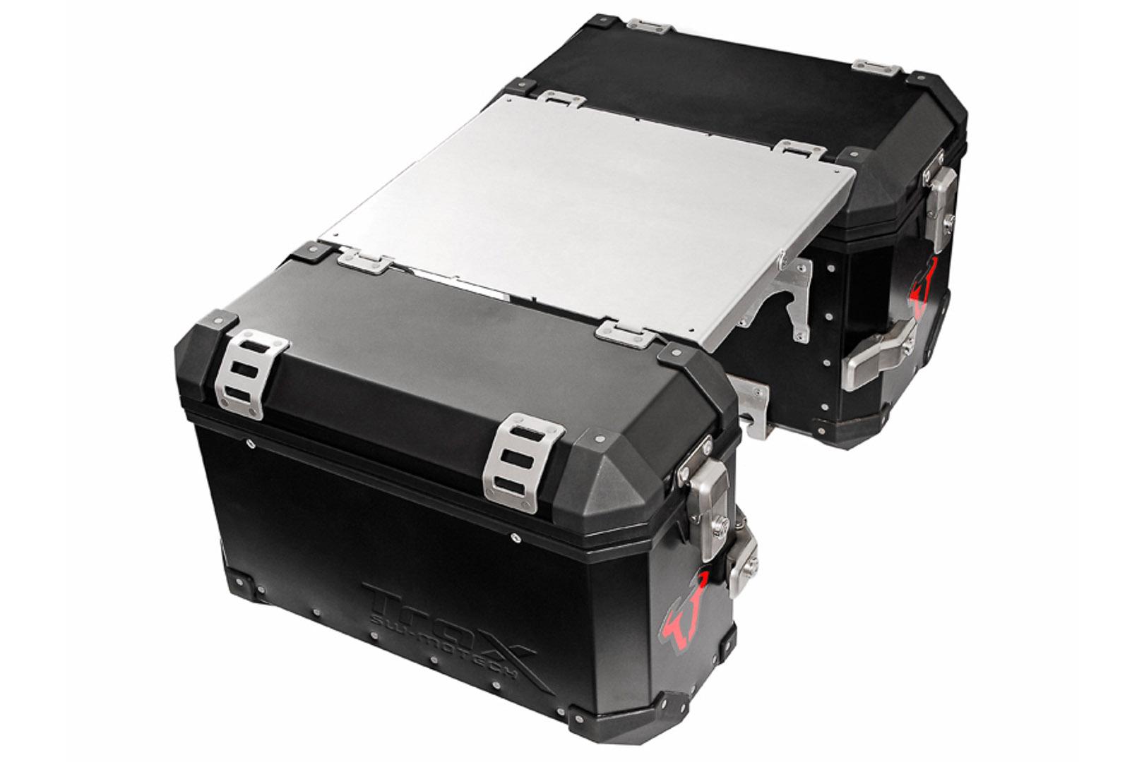 Tavolo da campeggio TRAX ION Per valigia laterale TRAX ION. Colore alluminio.