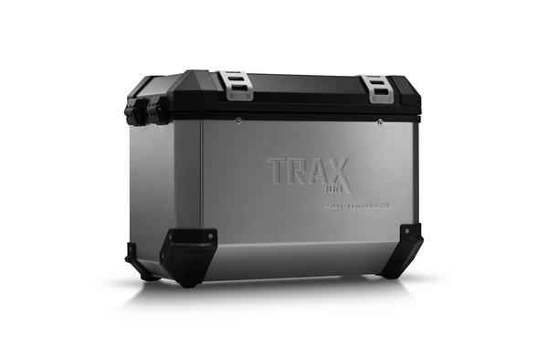 TRAX ION L Side case. Aluminum. 45 l. Left. Silver.
