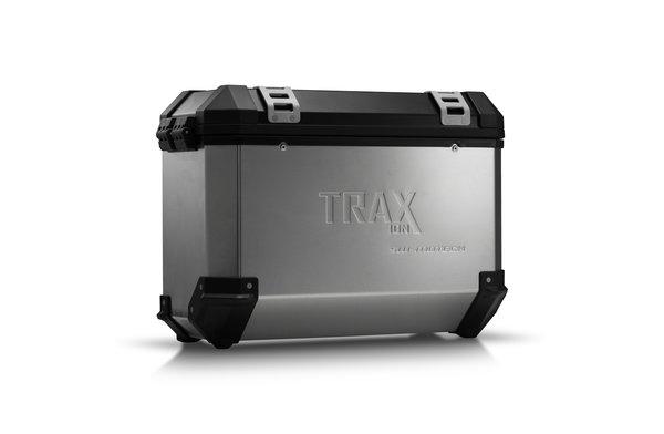 TRAX ION M Seitenkoffer. Aluminium. 37 l. Links. Silbern.