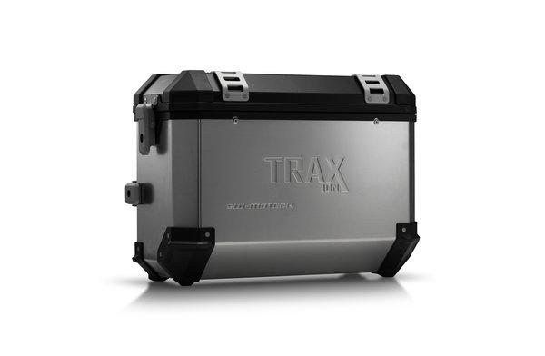TRAX ION M Seitenkoffer. Aluminium. 37 l. Rechts. Silbern.