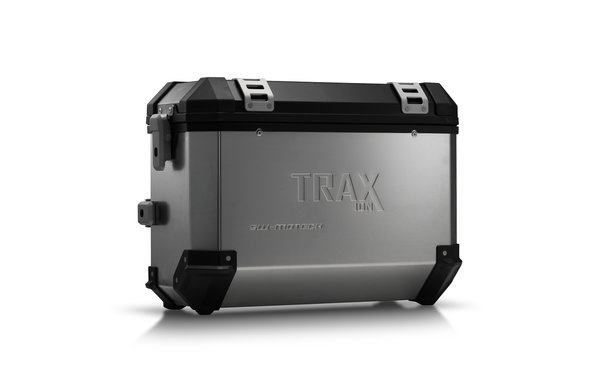 TRAX ION M Valise latérale. 37 l. Droite. Gris alu.