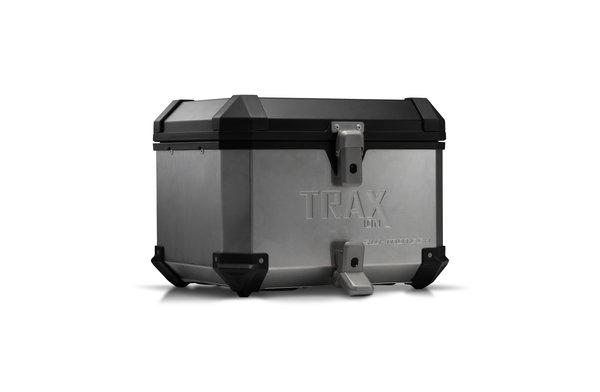 TRAX ION Topcase Aluminium. 38 l. Silbern.