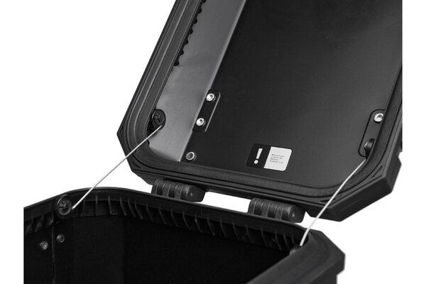 TRAX ION Öffnungsbegrenzer Für 1 Deckel. Edelstahl. PVC-ummantelt. 150 mm.