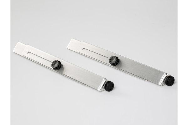 Patas de mesa TRAX ION Plateado. Aluminio. 2 patas. Para mesa TRAX ION.