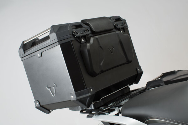TRAX ADV top case passenger backrest For TRAX ADV top case. Black.