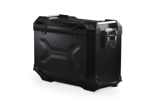 Maleta (Caja) de alumino TRAX ADV L 45 l. Derecho. Negro.