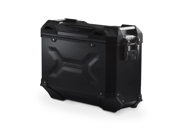 TRAX ADV M Side case. Aluminium. 37 l. Right. Black.