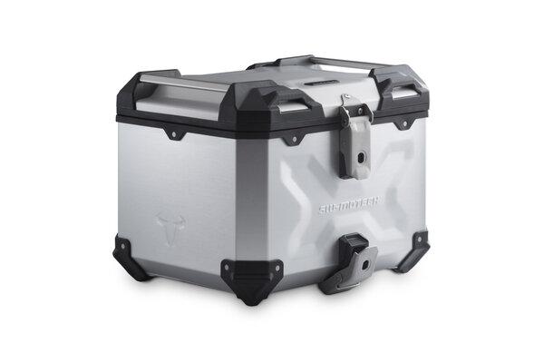 TRAX ADV Topcase Aluminium. 38 l. Silbern.