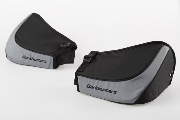 Kit BBZ pour protège-mains Du tissu. Noir/gris.