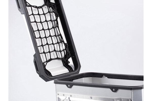 TRAX ADV L filet de couvercle de valise latérale Noir. Pour valise latérales TRAX ADV L 45 litres.