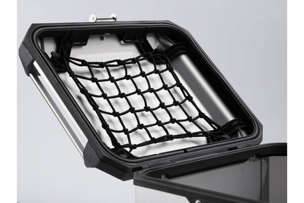 TRAX ADV top case lid net For TRAX ADV top case. Black.