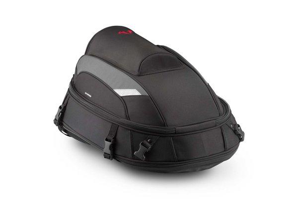 Sacoche de selle Jetpack 20-33 l. Nylon balistique. Noir/Gris.