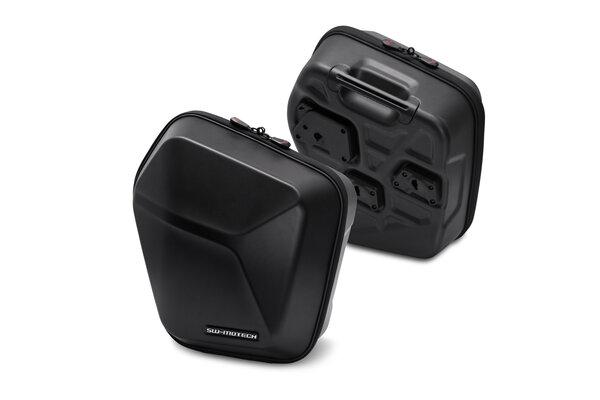 Valises latérales URBAN ABS 2x 16,5 l. Plastique rigide ABS. Pour support SLC.