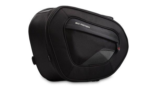 BLAZE saddlebags high version 1680D Ballistic Nylon. Black/Grey. In pairs.