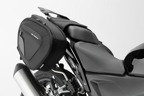BLAZE Satteltaschen-Set Schwarz/Grau.Honda CBR500R,600RR,650F/CB500F,650F.