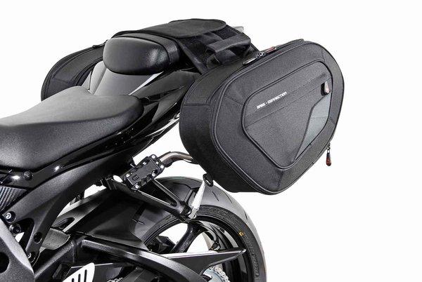 BLAZE Satteltaschen-Set Schwarz/Grau. Suzuki GSX-R600/750/1000.