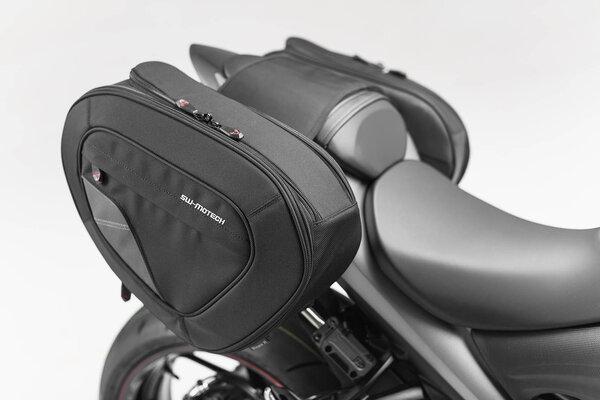Sacoches latérales BLAZE version haute Noir/Gris. Suzuki GSX-S1000 / GSX-S1000 F (15-).