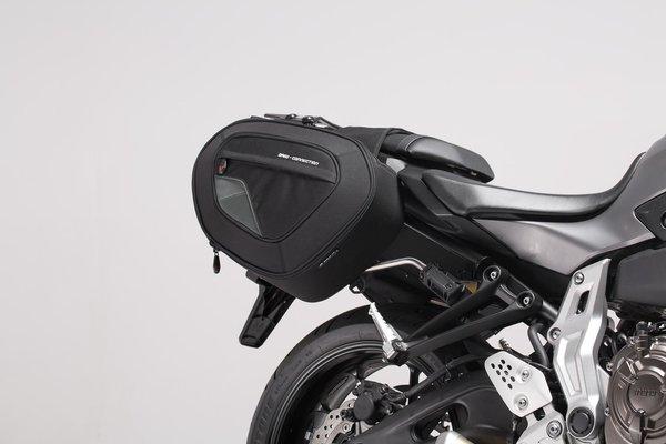 BLAZE Satteltaschen-Set Schwarz/Grau. Yamaha MT-07/ Moto Cage / Tracer.