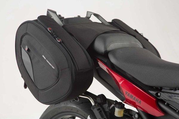 BLAZE Satteltaschen-Set Schwarz/Grau. Yamaha MT-09 Tracer (14-18).