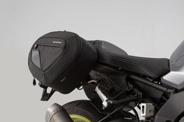 Sacoches latérales BLAZE version haute Noir/Gris. Yamaha MT-10 (16-).
