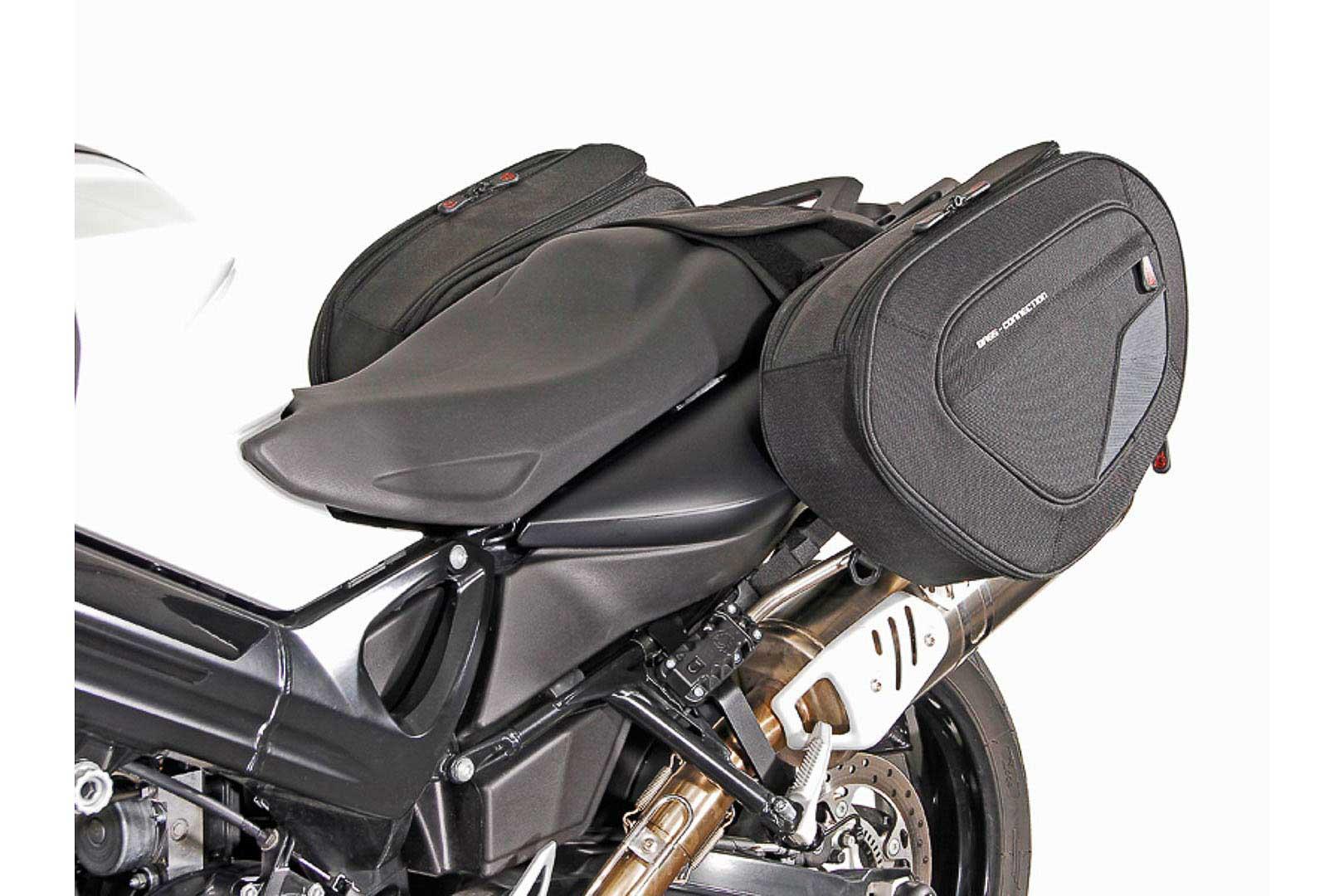 Sacoches latérales BLAZE version haute Noir/Gris. BMW F 800 R (09-14) / F 800 GT (12-16).