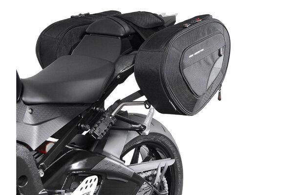 BLAZE H saddlebag set Black/Grey. BMW S 1000 RR (12-14) /S 1000 R (13-).