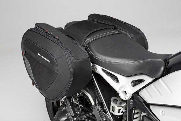 BLAZE H saddlebag set Black/Grey. BMW R nineT (14-), Pure / GS (16-).