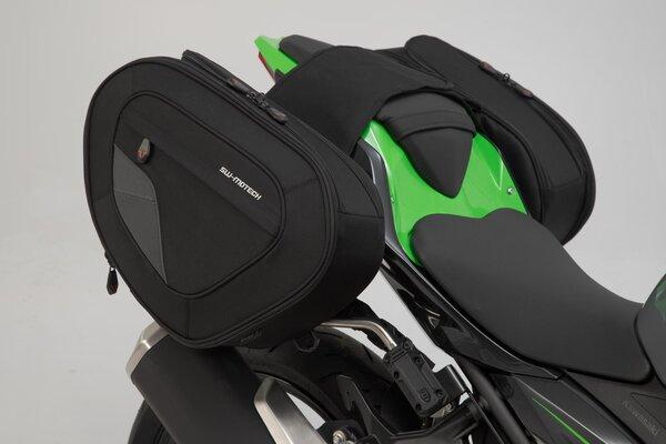 Set borse portaccessori BLAZE H Nero/Grigio. Kawasaki Ninja/ Z 400 (18-).