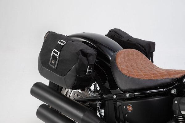 Legend Gear Seitentaschen-System LC Black Edition Harley Davidson Softail Street Bob (18-).