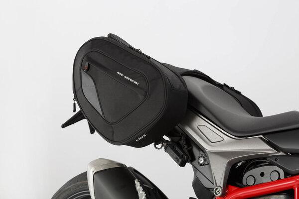 BLAZE H saddlebag set Black/Grey. Hypermotard / Hyperstrada (13-).
