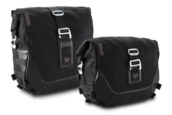Legend Gear Seitentaschen-System LC Black Edition Harley Davidson Softail Fat Boy, Breakout.