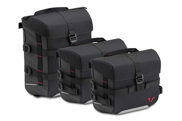 Set borse SysBag 10/15/10 Nero/Antracite. Inc. cinghia di ancoraggio.