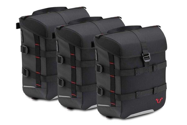 Set borse SysBag 15/15/15 Nero/Antracite. Inc. cinghia di ancoraggio.