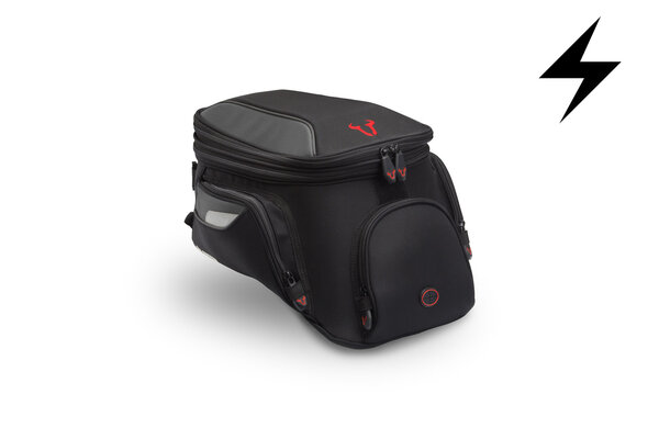 EVO 2.0 City electric tank bag 12 V. 11-15 l. For EVO tank ring. Black/Grey.