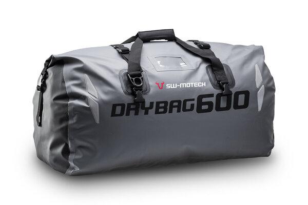 Drybag 600 tail bag 60 l. Grey/black. Waterproof.